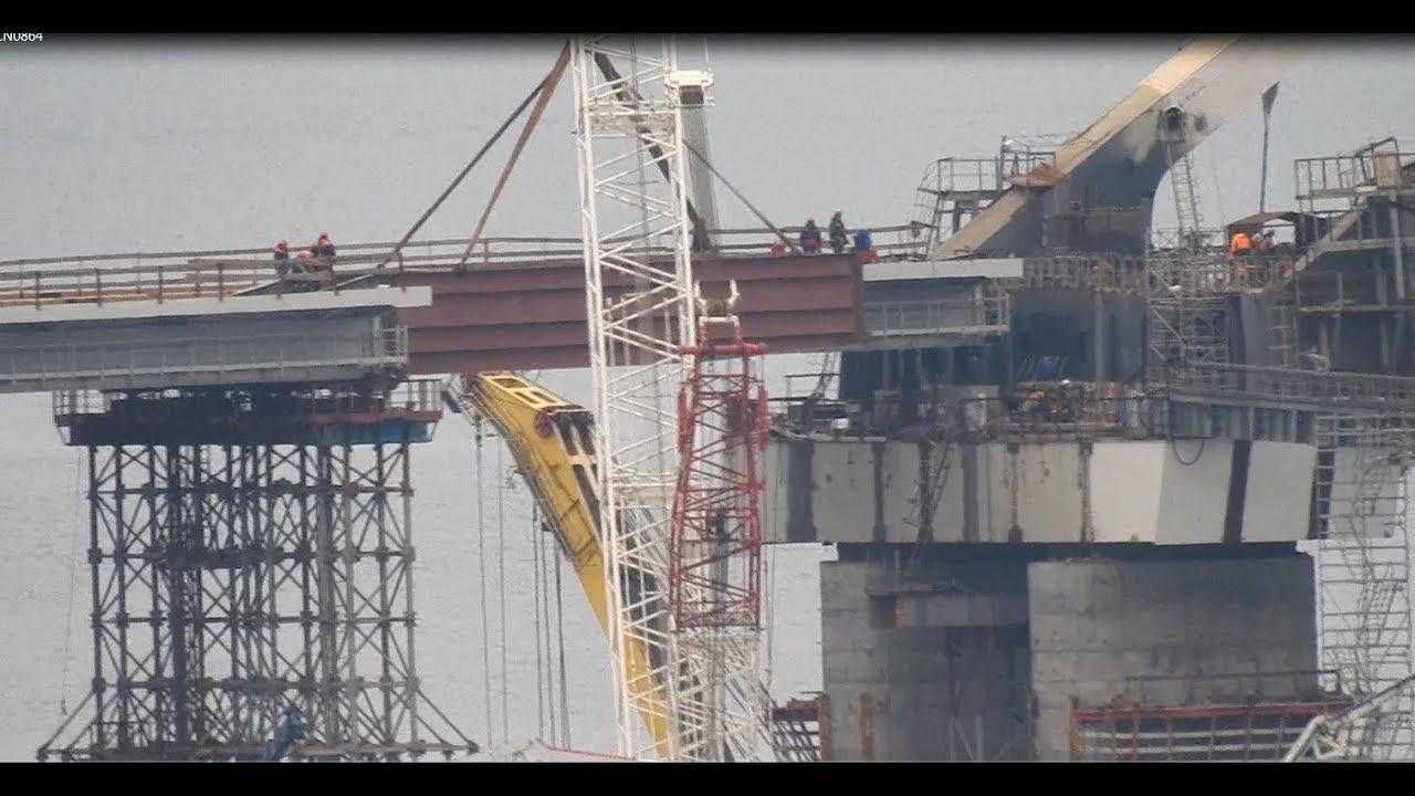 Крымский мост. Арки и пролёты со стороны Крыма соединились