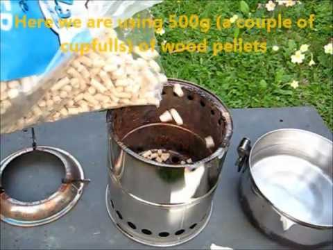 Wood pellets burning for 1.5 hours on Wild Woodgas Stove - Wood Pellets Burning For 1.5 Hours On Wild Woodgas Stove - YouTube