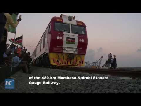 How do Kenyan people evaluate the Chinese-built Mombasa Nairobi Standard Gauge Railway