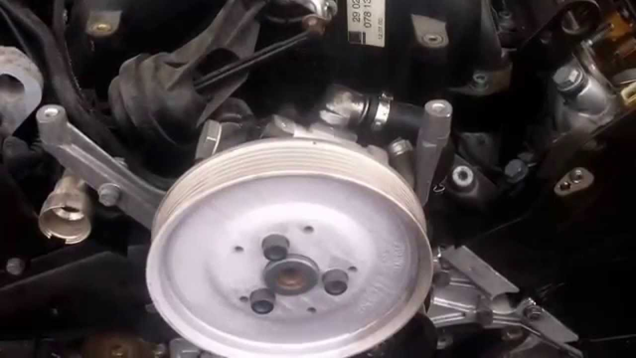 Audi 2 7 Power Steering Pump Youtube