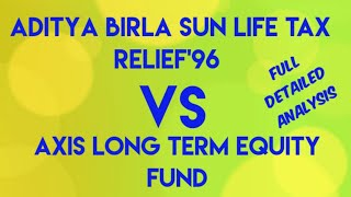 Aditya Birla Sun Life Tax Relief '96 Vs Axis Long Term Equity Fund || Best ELSS/Tax Saving Fund