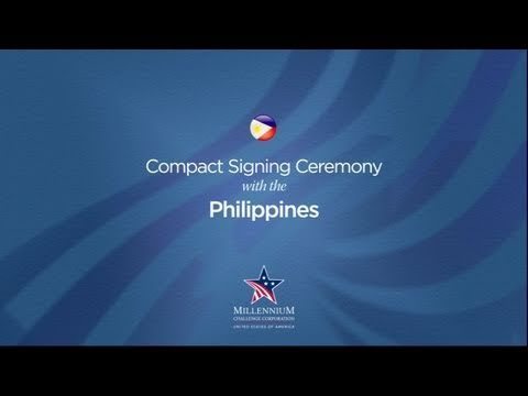 Philippines Compact Signing Ceremony