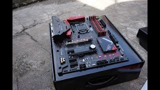 unboxing ASRock B250 Gaming K4  Cheapest mainboard gaming ATX for Kabylake