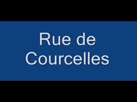 Rue de Courcelles Paris  Arrondissement  8e