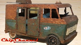 1960s Rusty Structo Emergency Rescue Van Restoration