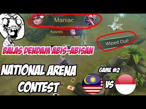 PEMBALASAN !! Indonesia Meratakan dan dapat MANIAC Lawan Malaysia, Emang GG Broh | MLBB NAC 17092017