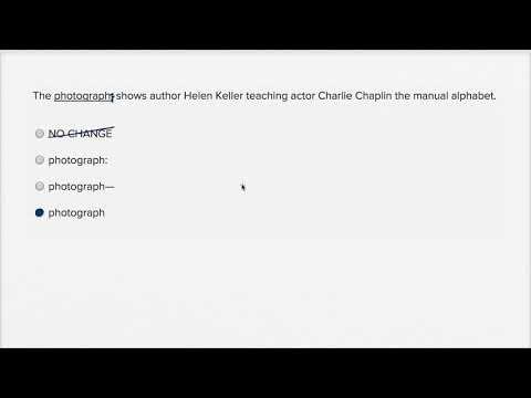 Writing: Within-sentence punctuation — Harder example 2 | Writing & Language | SAT | Khan Academy