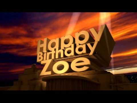 Happy Birthday Zoe Youtube