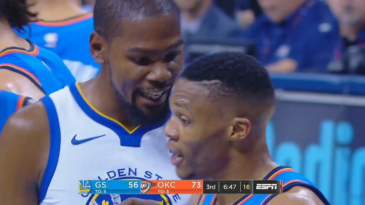 9c201a31458 Kevin Durant SHUTS UP Russell Westbrook for Trashing Talking ...