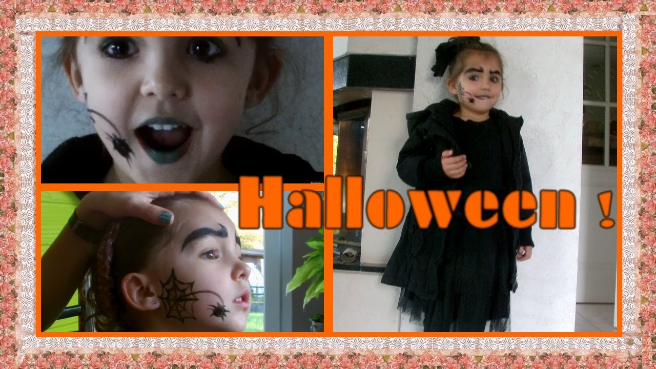 maquillage d 39 halloween pour enfants lou youtube. Black Bedroom Furniture Sets. Home Design Ideas