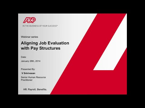 Aligning Pay Structure with Job evaluation