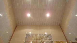 Какой выбрать потолок в ванной комнате (в тч реечный, натяжной и пр) + фото и видео
