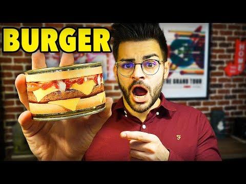 JE TESTE UN BURGER EN CONSERVE (le pire hamburger)