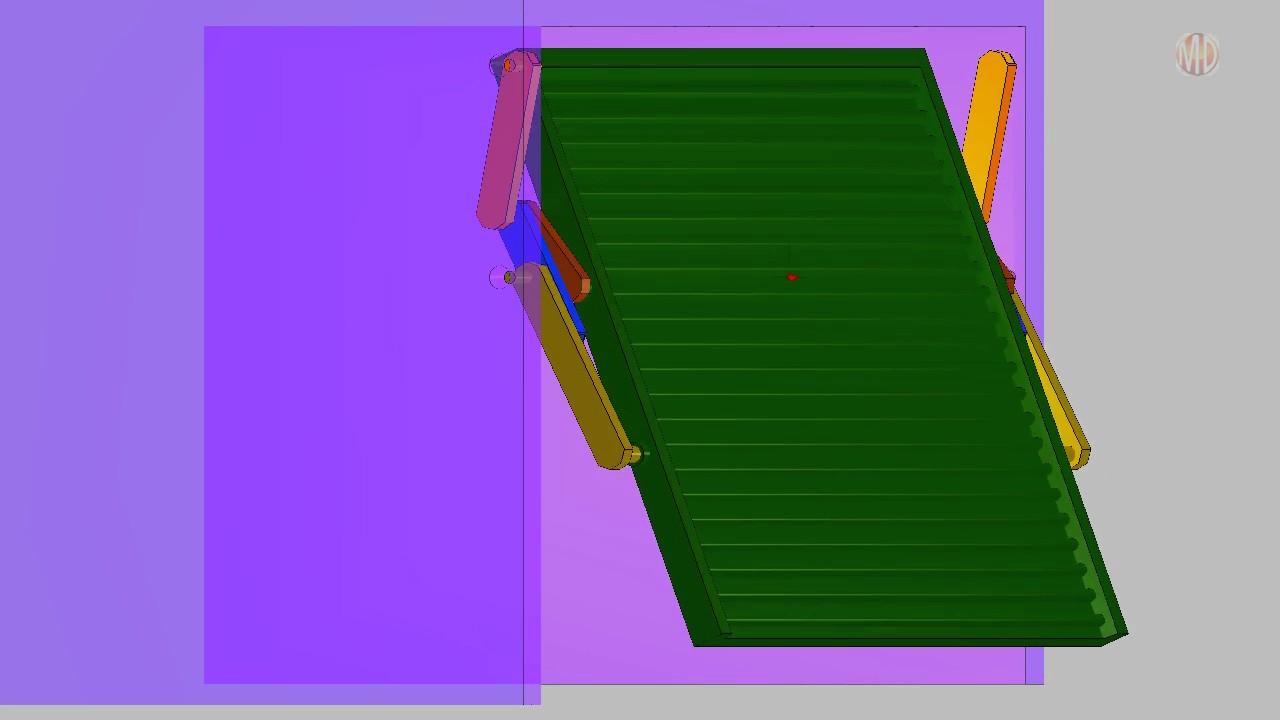 Mechanism Design Garage Door 6 Bar Youtube