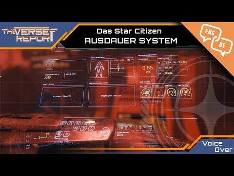 Star Citizen Ausdauer& Actor Status System Voice Over | Verse Report [Deutsch/German]