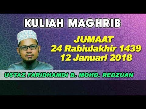 [12.01.2018] USTAZ MOHAMMAD FARIDHAMDI B. REDZUAN