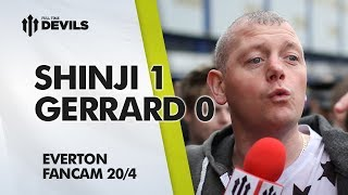 Shinji 1 Gerrard 0 | Everton 2-0 Manchester United | FAN CAM