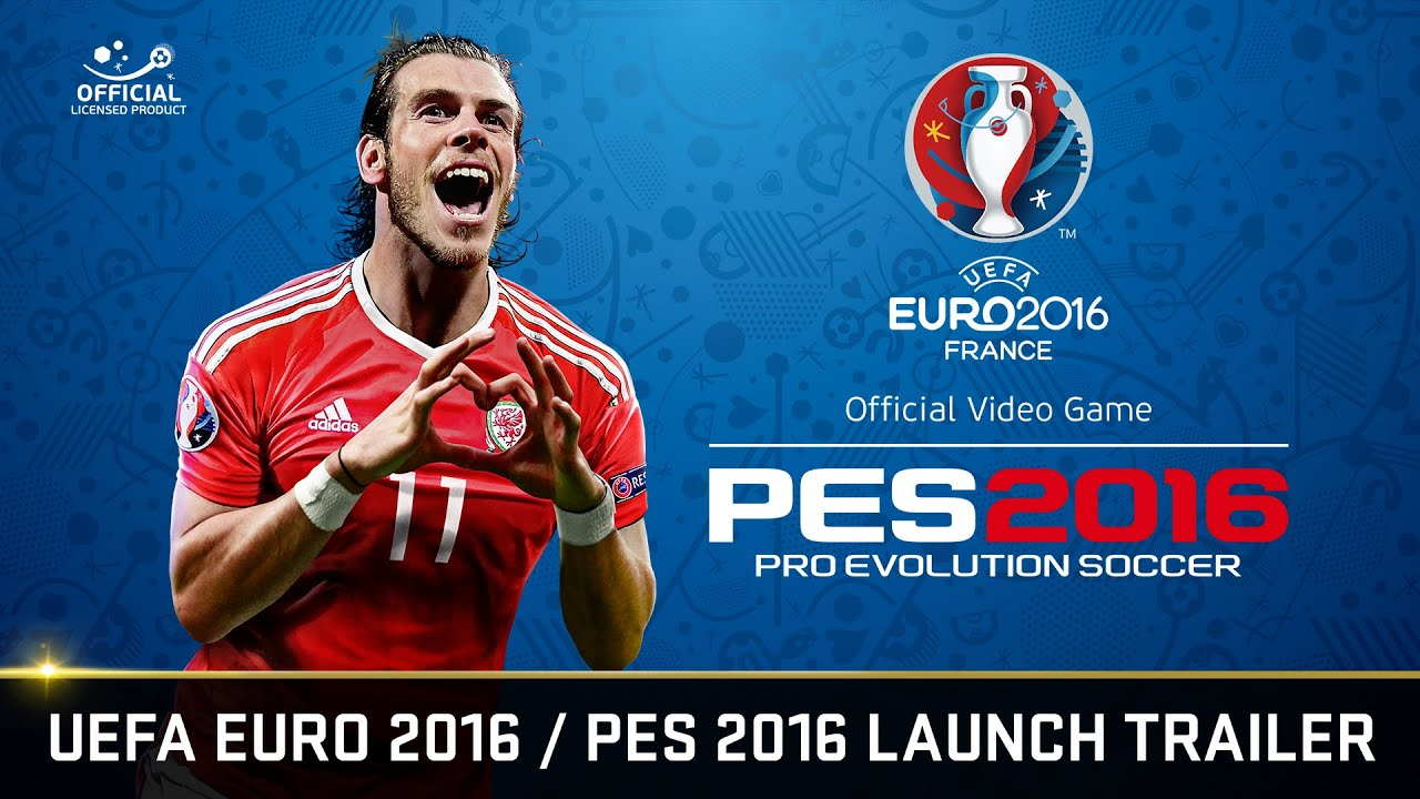 official uefa euro 2016 pes 2016 launch trailer youtube. Black Bedroom Furniture Sets. Home Design Ideas