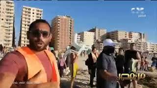 رغم غرق 11 شخصا.. مواطنون يحاولون نزول شاطئ النخيل بالإسكندرية  #من_مصر