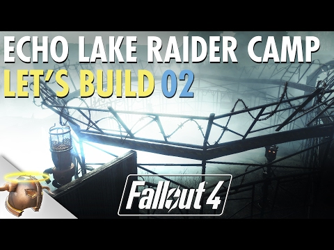 Fallout 4 Creation Kit settlement mod Let's Build project: Echo Lake Lumber Raider Camp | 02