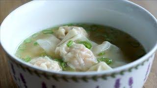 Receta fácil de Sopa Wonton o Wantán - Easy Wonton Soup Recipe (เกยวนำ) l Kwan Homsai