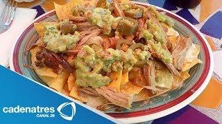 Receta Para Preparar Nachos Con Carnitas. Receta De Nachos / Antojitos Mexicanos