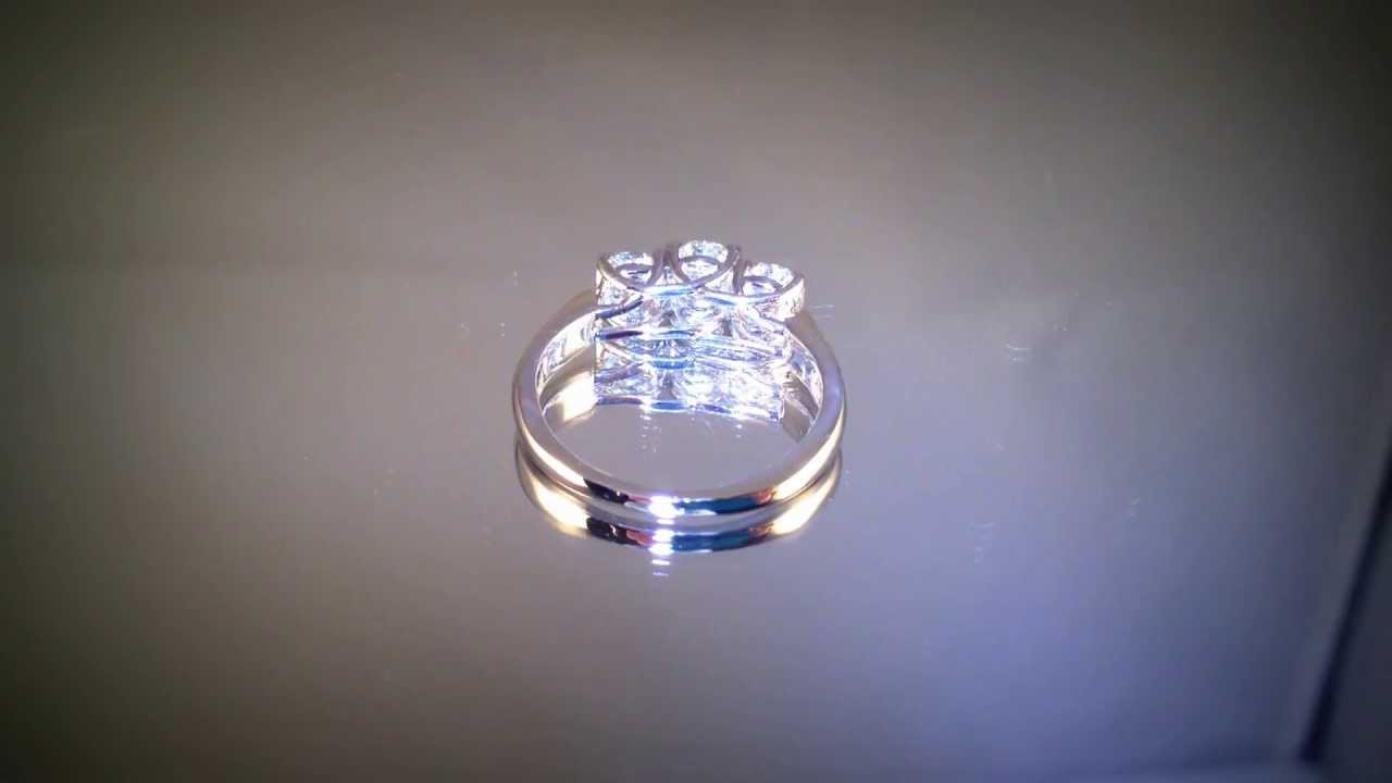Rare Certified Zales Octillion Round Diamond Engagement Ring