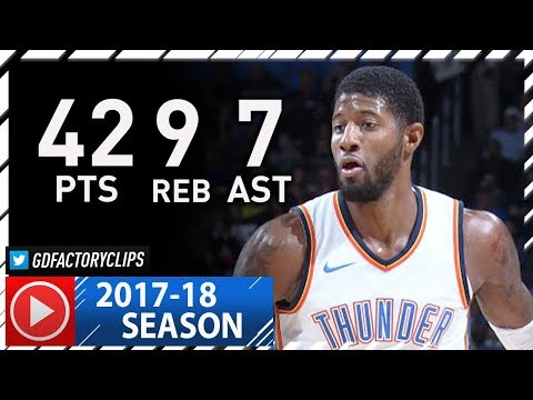 Paul George Full Highlights vs Clippers (2017.11.10) - 42 Pts, 9 Reb, 7 Ast, BEAST!
