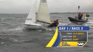 Highlights Race Day 1 - The 2010 SAP 5O5 World Championship