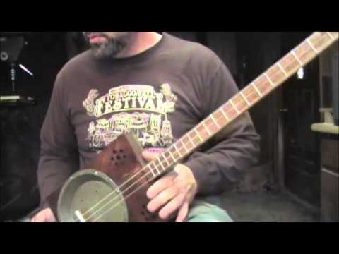 Pie Pan Resonator Cigar Box Guitar by tinyguitars =)