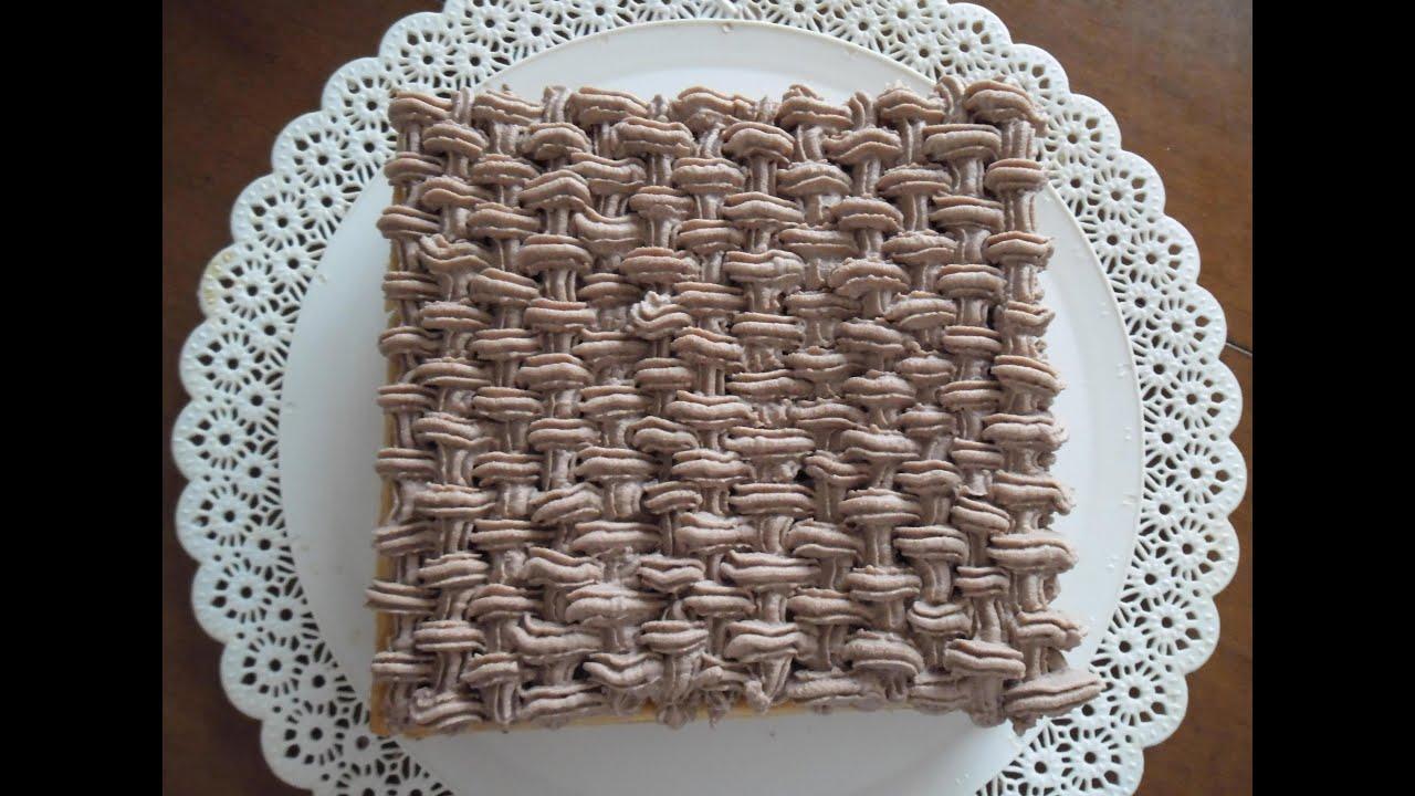 Millefoglie con decorazione a intreccio con crema for Decorazione torte millefoglie