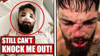 mike-perry-reacts-to-broken-nose-and-loss-to-luque-ufc-uruguay-dana-white-on-colby-vs-usman