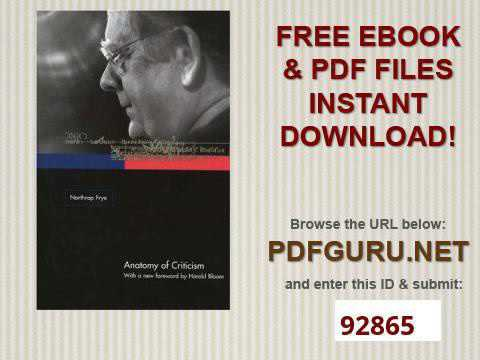 Anatomy of Criticism Four Essays - YouTube