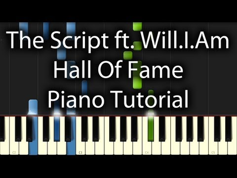 The Script feat. will.i.am - Hall of Fame Sheets + Tutorial (How To Play on Piano)