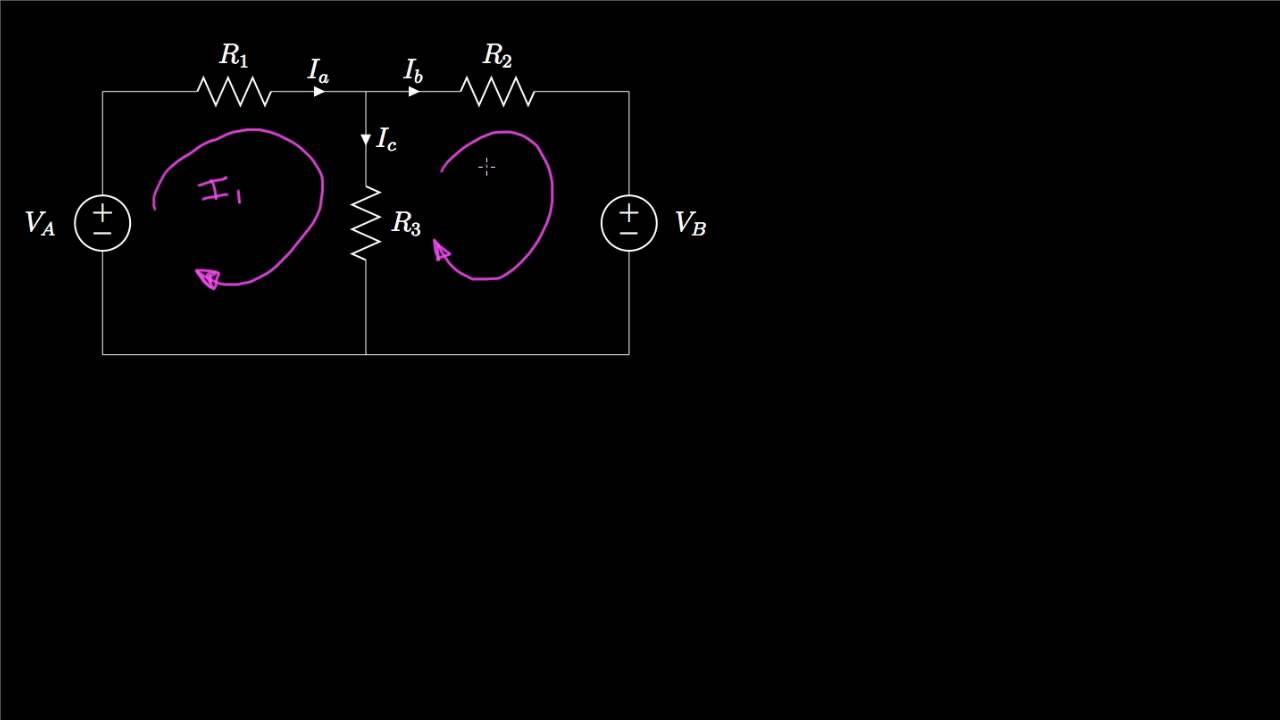 Introduction To The Mesh Current Method Youtube Electrical Circuit Solving Technique Loop
