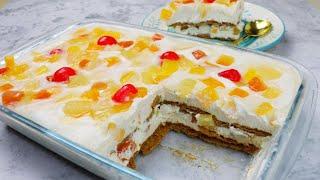 Graham Crema De Fruta | Easy Dessert | No-bake