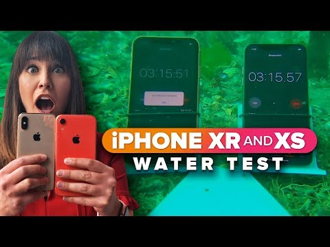 iPhone XR and XS extreme water test