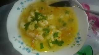 Суп с клёцками. Очень вкусный!