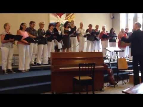 Schellingwoude dames koor onder leiding van Ricus Smid, Durme Durme