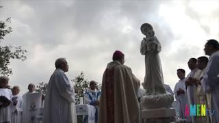 Đức TGM Giuse Nguyễn Chí Linh, làm phép tượng Đức Mẹ La Vang tại Đất Thánh ngày 18.10.2018