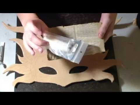 How to Make a Leather Mask Tutorial - Sun Mask