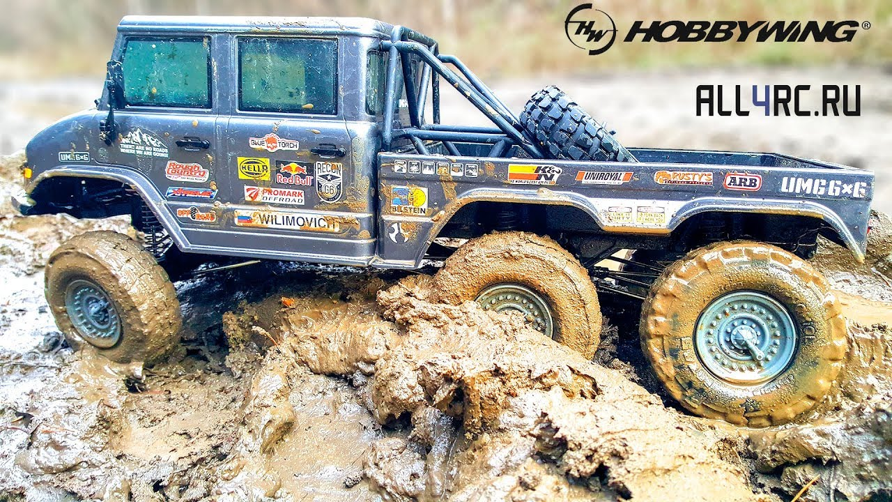 RC Car Axial SCX10 II 6x6 Upgrade and Extreme MUD Test