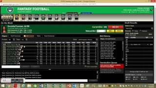 Live 2016 Fantasy Football Auction Mock Draft