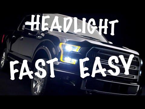 2015-2017 F150 Headlight Bulb Replacement EASY METHOD