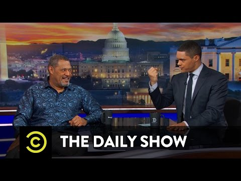 Between the Scenes - When Laurence Fishburne Saved Trevor's Life: The Daily Show