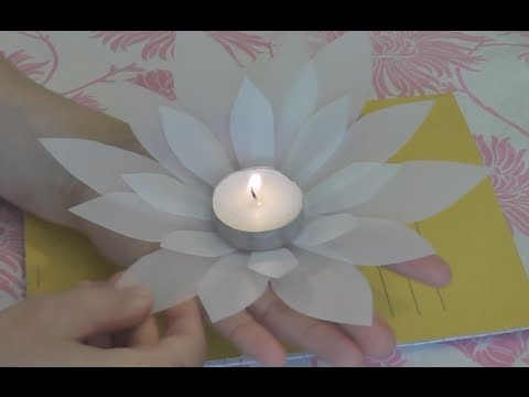 Diy make lotus flower for a tea candle recycle a milk bottle make lotus flower for a tea candle recycle a milk bottle mightylinksfo