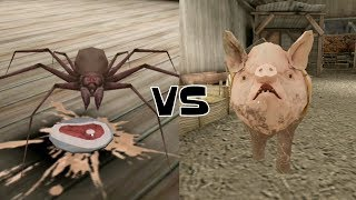 Granny's Spider vs Mr. Meat's Pig