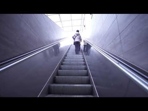 Poland, Warsaw,  Ratusz Arsenal Metro Station, 6X elevator, 1X escalator