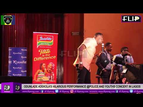 ODUNLADE ADEKOLA'S HILARIOUS PERFORMANCE @ POLICE AND YOUTHS CONCERT IN LAGOS