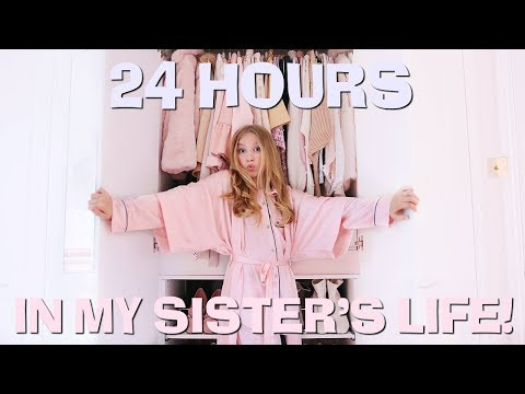24 HOURS IN MY BIG SISTER'S LIFE! | Coco's World